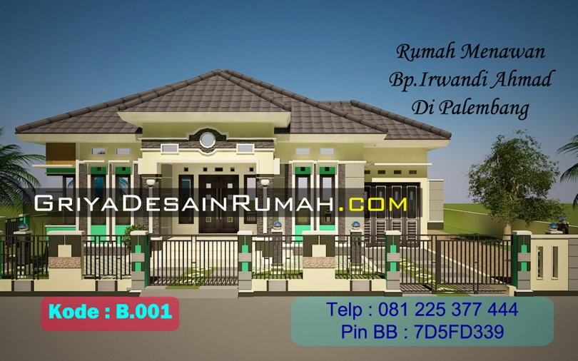 Rumah Menawan 1 Lantai Bp Irwandi Palembang
