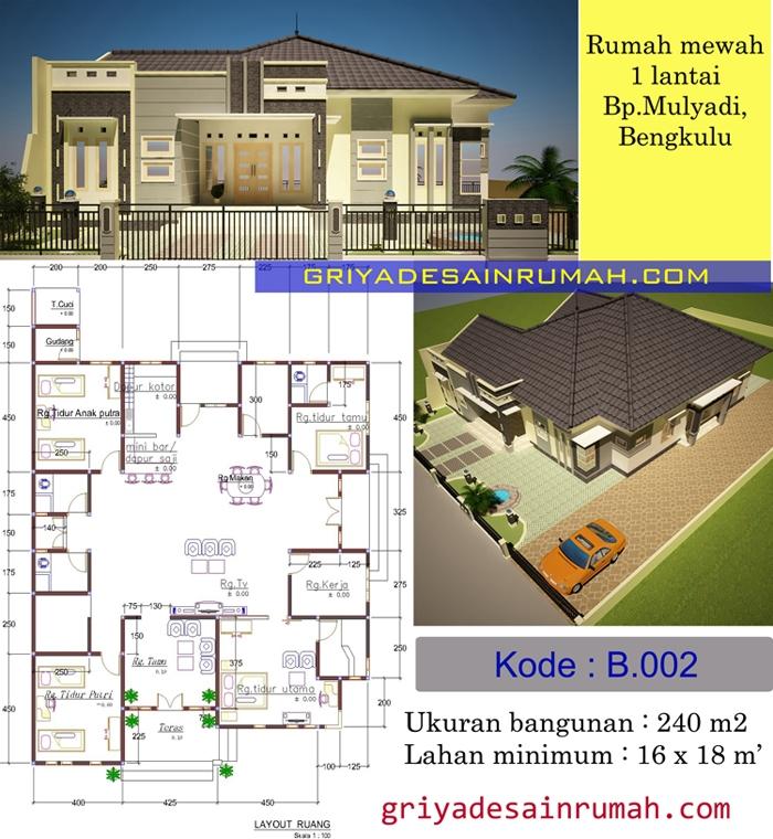 Denah Rumah 1 Lantai Di Bengkulu