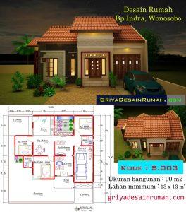 denah rumah minimalis 1 lantai jasa desain rumah