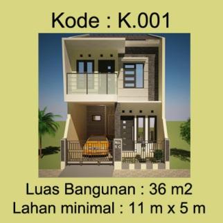 Rumah minimalis 2 lantai Bpk.Singgih di Tangerang