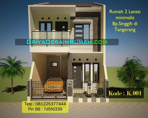 koo1besar & Rumah minimalis 2 lantai Bpk.Singgih di Tangerang | Jasa Desain Rumah