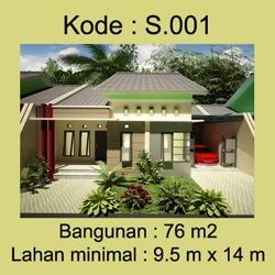 Rumah Minimalis 1 lantai Bpk.Yunus di Cirebon
