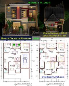 denah-rumah-2-lantai | jasa desain rumah