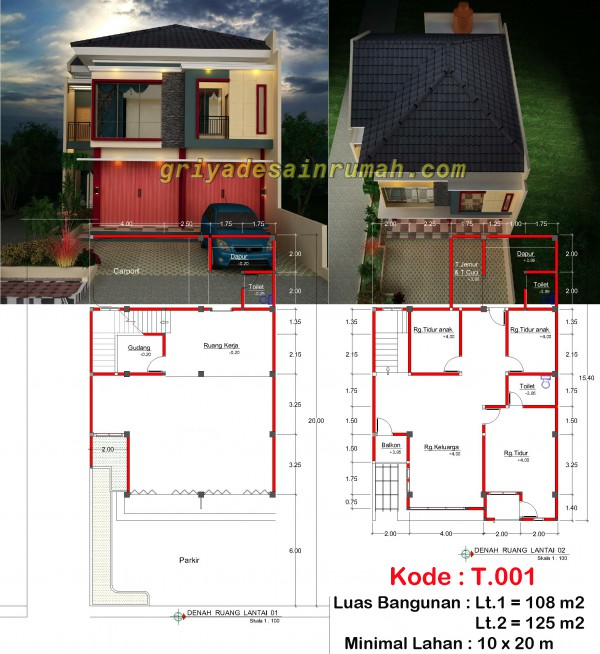 Desain Ruko Minimalis 2 Lantai Di Bogor