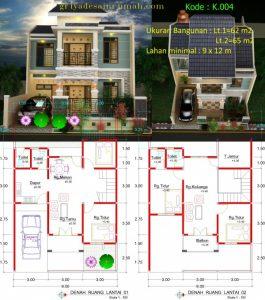 denah-rumah-minimalis-mewah-2-lantai | jasa desain rumah
