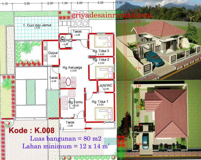 Desain Rumah Type 80 di Semarang