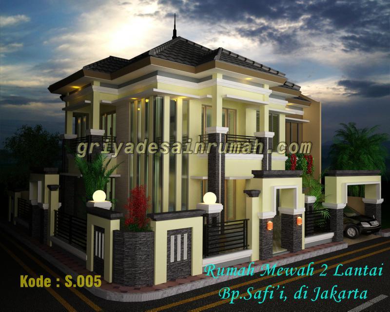 Desain Rumah Mewah Modern 2 Lantai Jasa Gambar