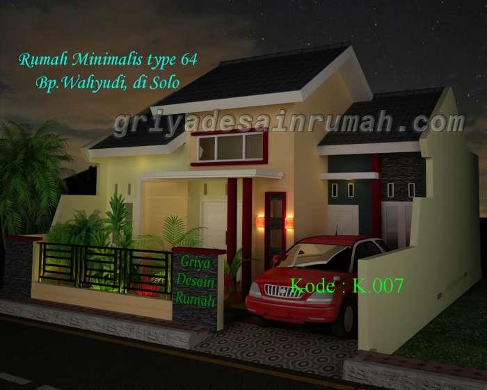 desain rumah minimalis type 64