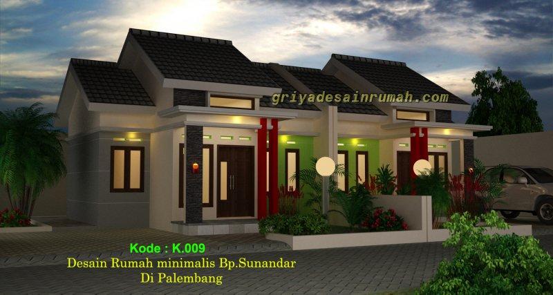 Desain Rumah Minimalis Modern 1 Lantai di Palembang