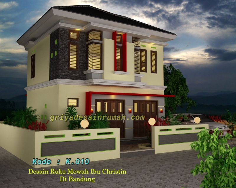 desain rumah dan toko desain rumah