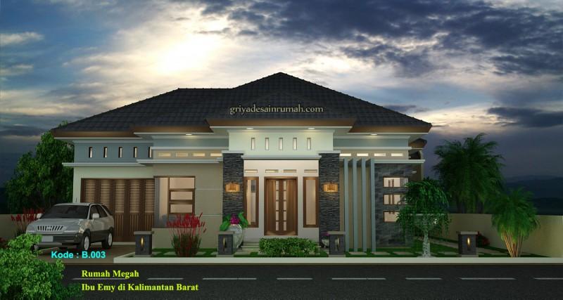 Rumah 1 Lantai Megah Modern