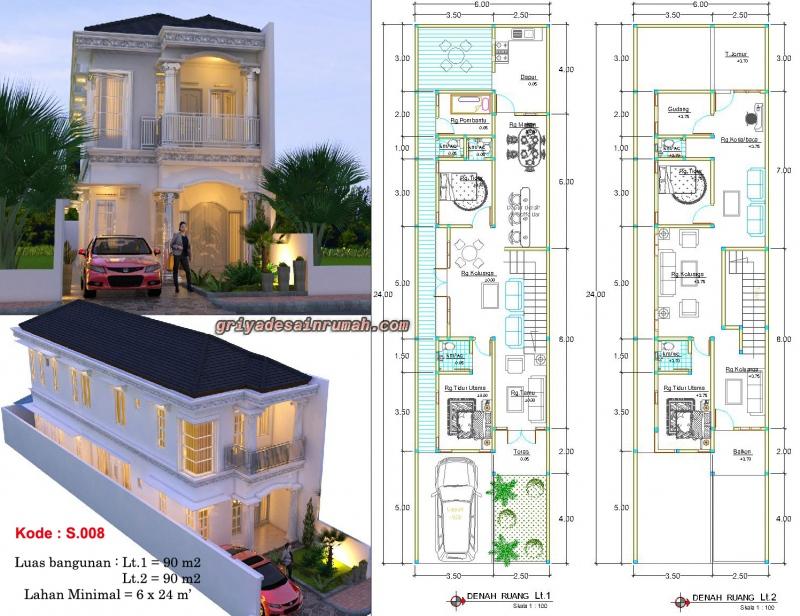 Denah Rumah Klasik Modern Mewah