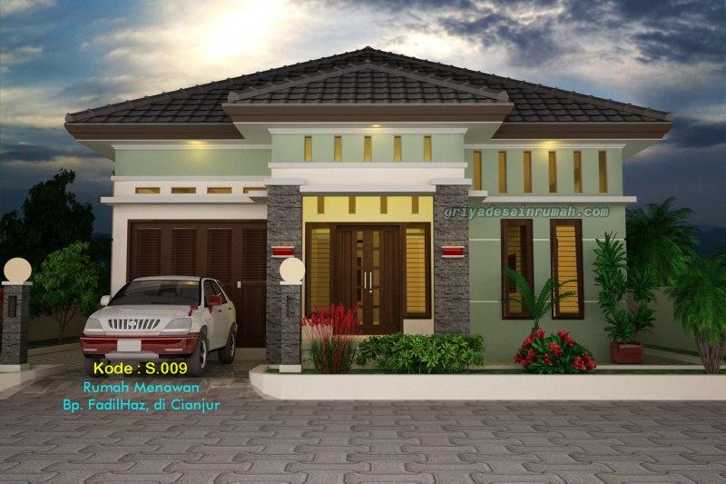 Desain Rumah 1 Lantai Elegan Mewah Minimalis