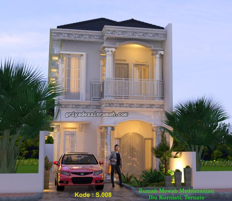 Desain Rumah Klasik Modern Mediteran Mewah