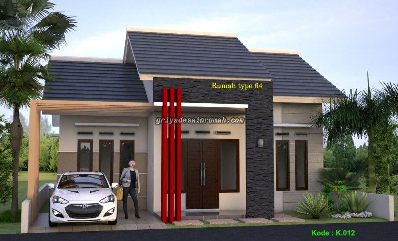 Desain Rumah Type 64 Minimalis