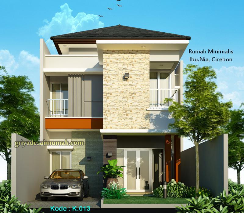 Desain Rumah Minimalis Modrn 2 Lantai Lebar 7 m