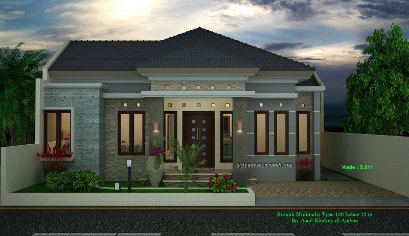 Desain Rumah Type 120 Minimalis 1 Lantai