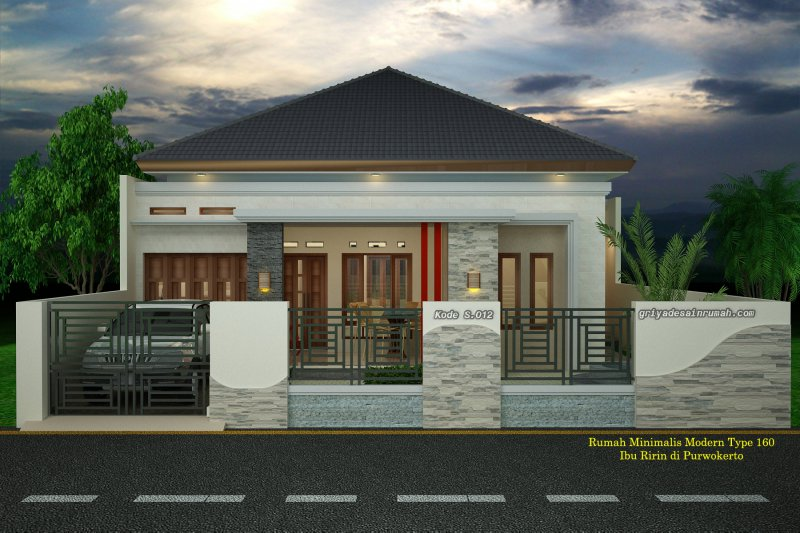 Desain Rumah Type 160 Mewah
