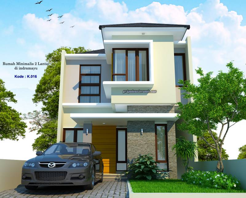Desain Rumah 2 Lantai Lebar 6 Meter Minimalis Modern