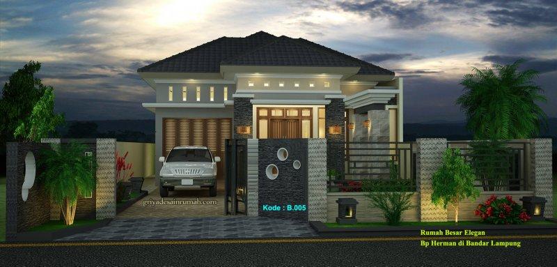 Desain Rumah 1 Lantai Mewah Besar
