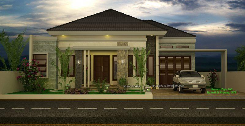 Desain Rumah Type 150 Mewah 1 Lantai