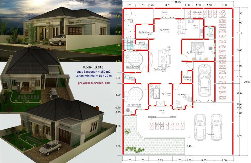 Rumah 4 Kamar Tidur Type 150 Di Kupang | Jasa Desain Rumah