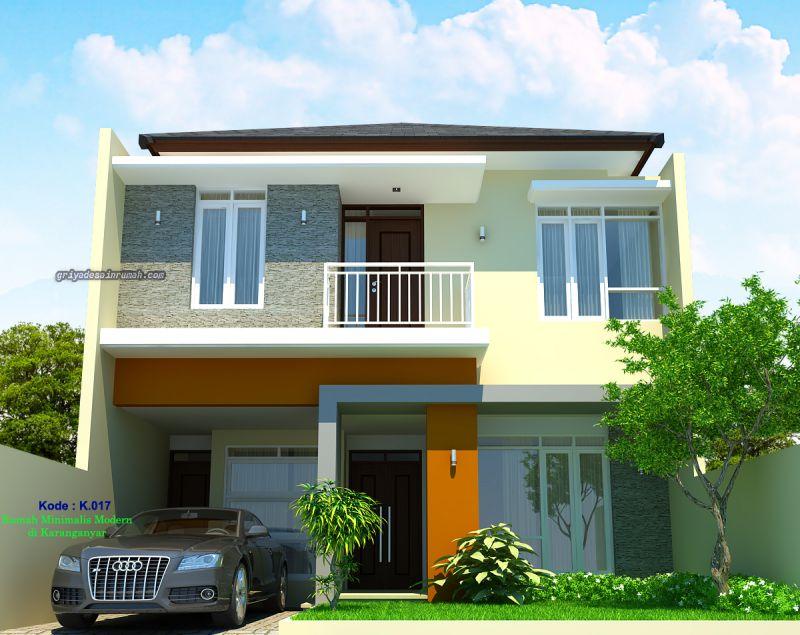 Desain Rumah Lebar 8 x 15 Meter 2 Lantai Minimalis Modern