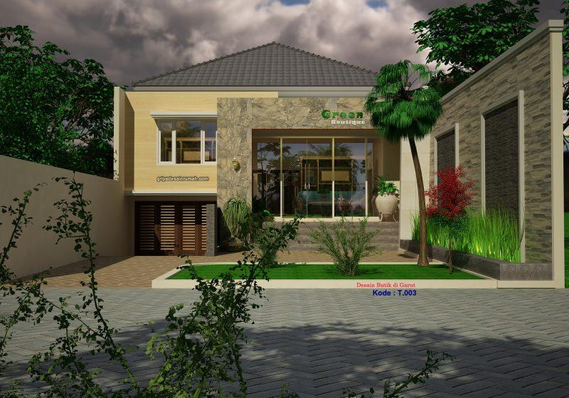 Desain Butik Minimalis Modern 1 Lantai
