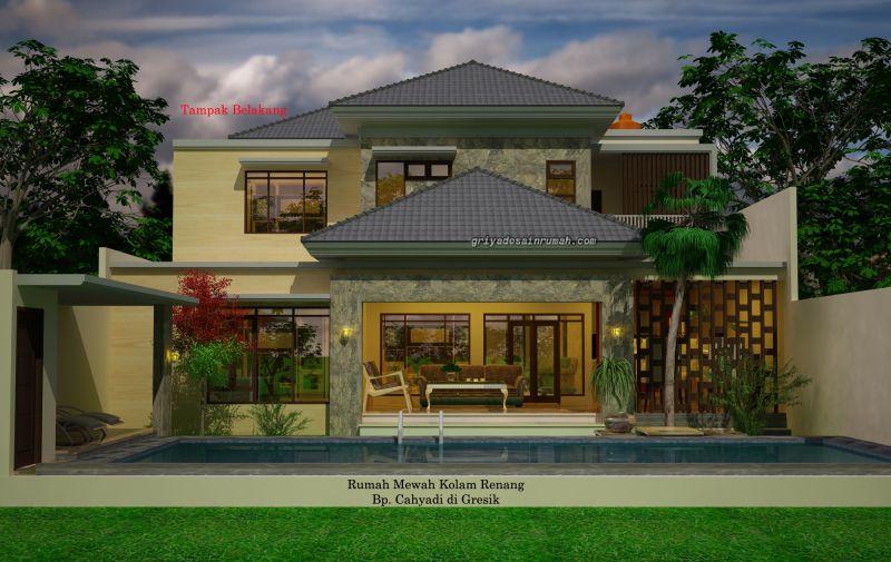 Desain Rumah Mewah Kolam Renang Minimalis 2 Lantai