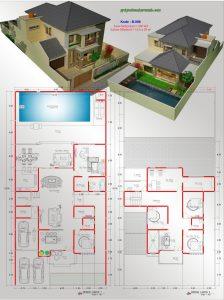 desain rumah mewah kolam renang 2 lantai   jasa desain rumah