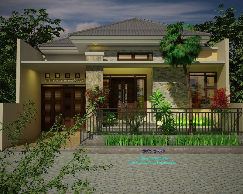 Desain Rumah Lebar 9 meter 1 Lantai
