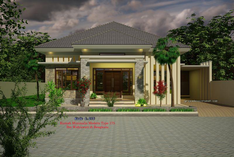 Desain Rumah Type 175 Modern 1 Lantai