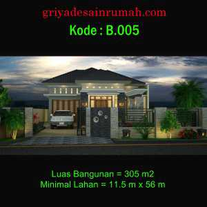 Rumah 1 Lantai Kolam Renang Taman Minimalis