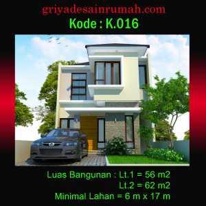 Rumah 2 Lantai Lebar 6 Meter Minimalis