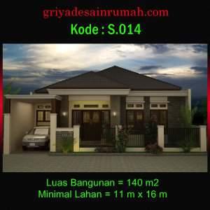 Rumah 1 Lantai Klasik Type 140 Lebar 11 meter