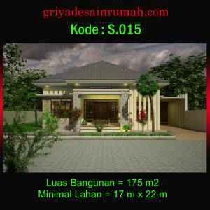 Desain Rumah Type 175 Modern 4 Kamar Tidur