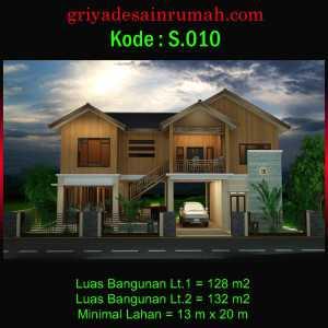 Desain Rumah Villa Kayu Panggung