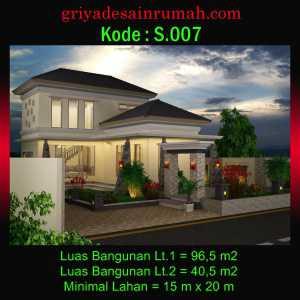 Desain Villa 2 Lantai Di Puncak Bogor