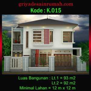 Rumah 2 Lantai 12 x 12 m 4 Kamar Tidur