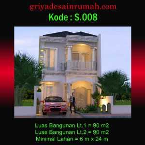 Rumah Klasik Modern 2 Lantai