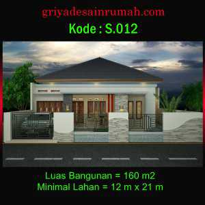 Desain Rumah Type 160 Mewah 1 Lantai