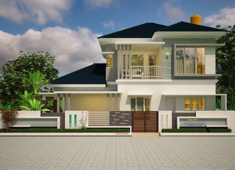 Gambar Model Rumah Mewah 2 Lantai Hook Elegan