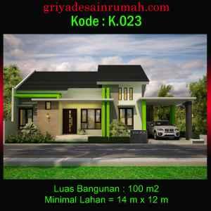 Desain Rumah Minimalis Modern Ukuran 14x12