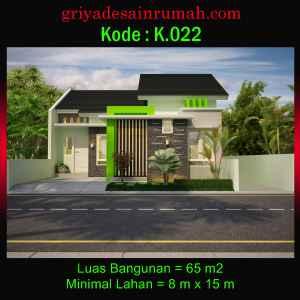 Rumah Type 65 Lebar 8 Meter