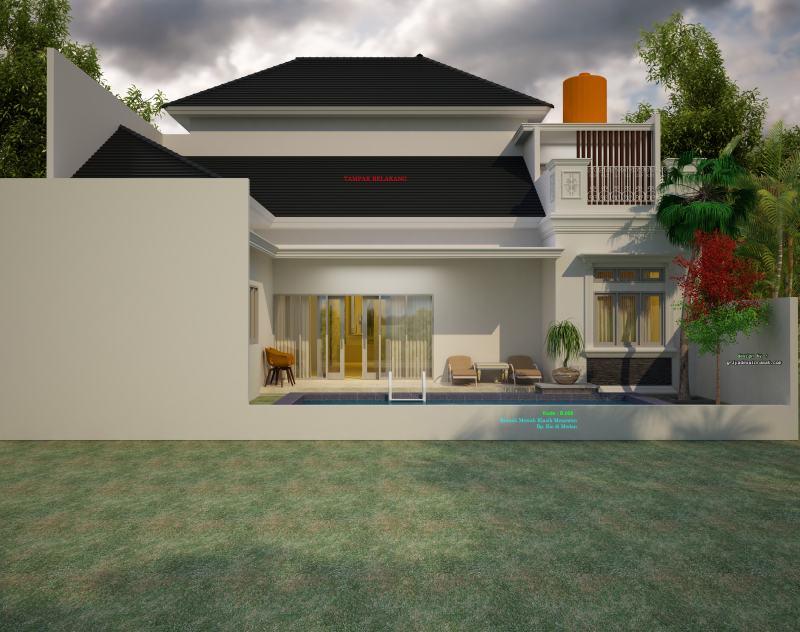 Gambar Rumah 2 Lantai Mewah Klasik Kolam Renang