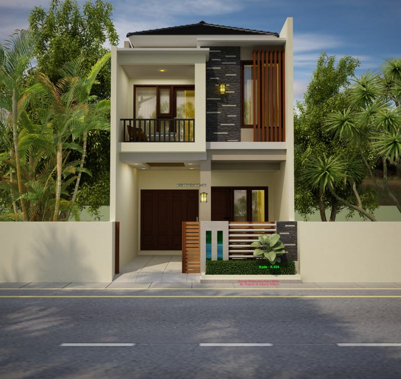 Gambar Desain Rumah Minimalis Ukuran Lebar 5 x 15 Meter 2 Lantai