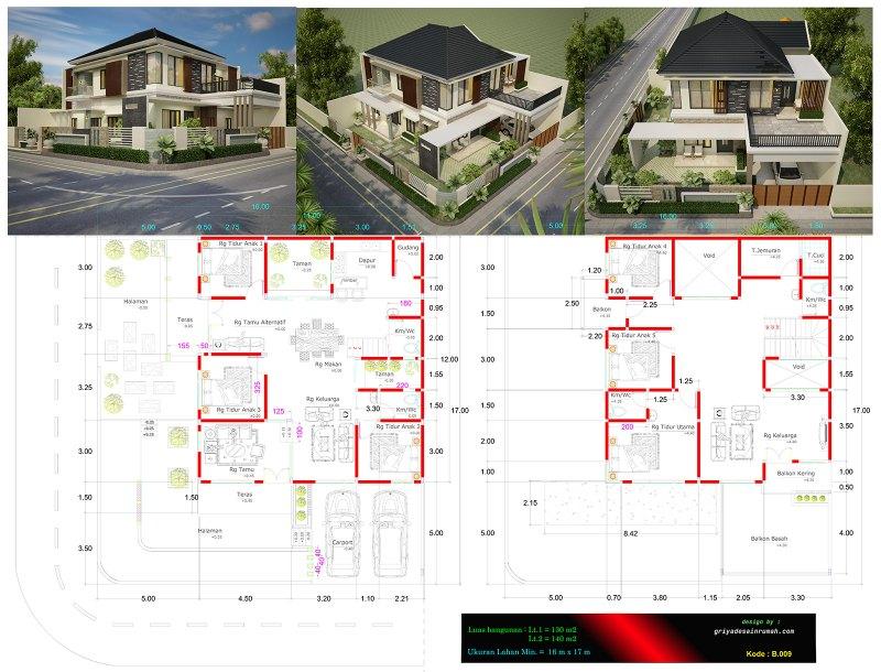 Desain Rumah Mewah Eropa 1 Lantai  gambar rumah mewah 2 lantai 11 x 12 meter hook jasa desain