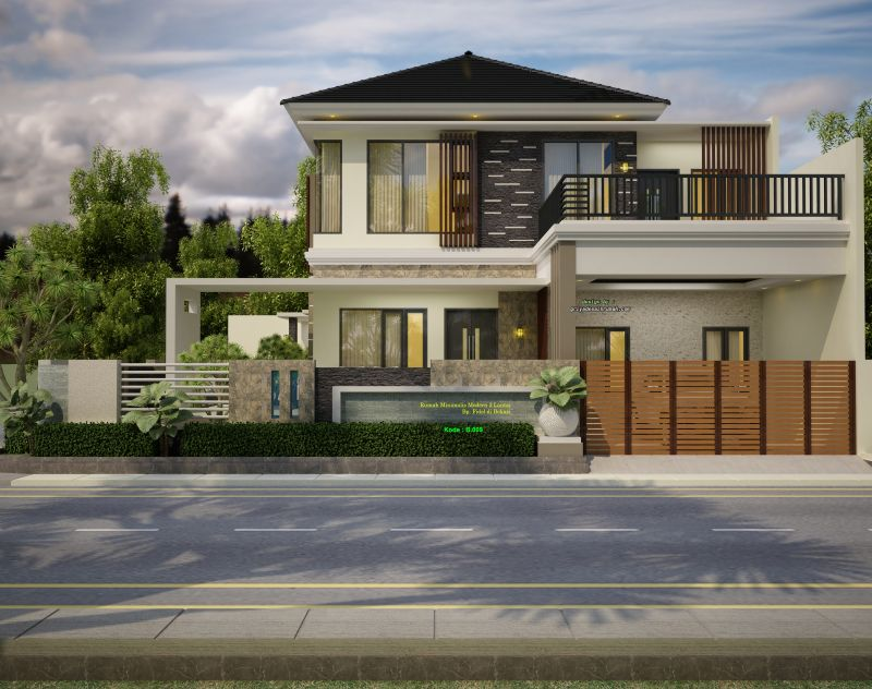 Gambar Desain Rumah Mewah Minimalis Modern2 Lantai Hook