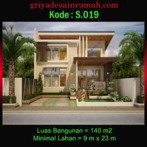 Rumah Mewah Tropis Modern 1 Lantai Type 140