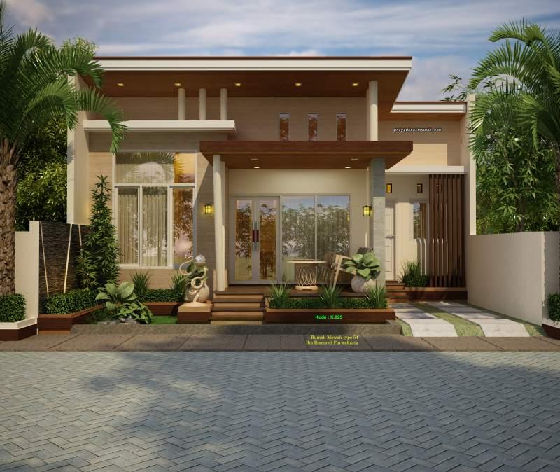 Jasa Desain Rumah Mewah: Denah Rumah Type 54 Ukuran 9.5 X 10.5 Meter
